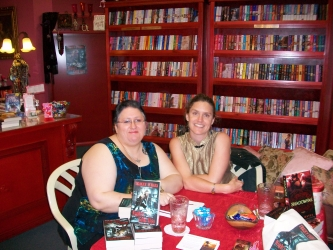 Tracey OHara and Erica Hayes book signing at Intrigue (Kate Cuthbert, 28/11/2009)