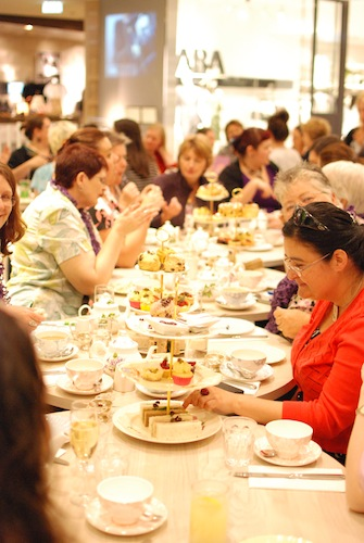 High tea with Sarah Wendell -- The Victoria Room Tea Salon, 28/10/2012