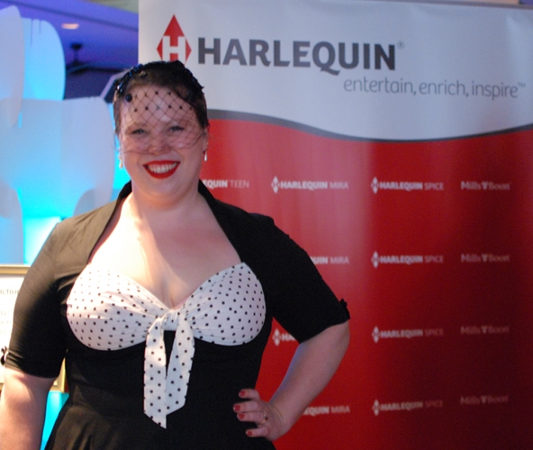 Kate Cuthbert at the 2012 Harlequin cocktail party -- Photo by Kat Mayo