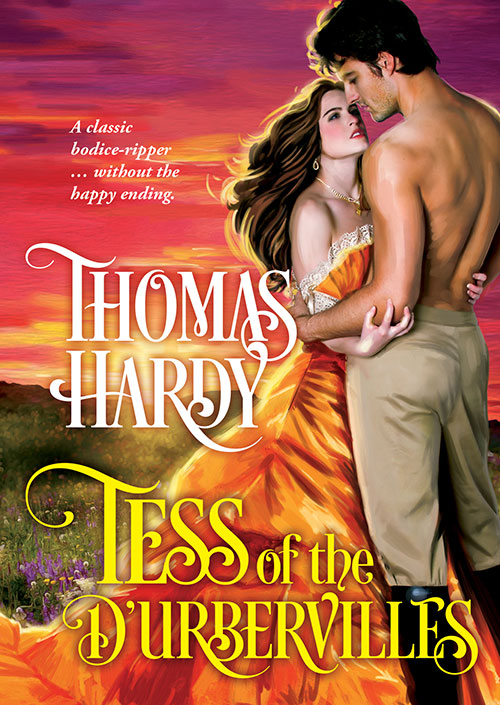#LoveRomance - Tess of the D'Urbervilles by Thomas Hardy cover remix designed by Jennifer Wu