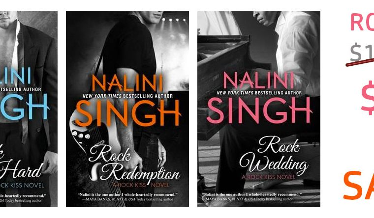 2018 Galaxy Bookshop Nalini Singh Rock Kiss Bundle
