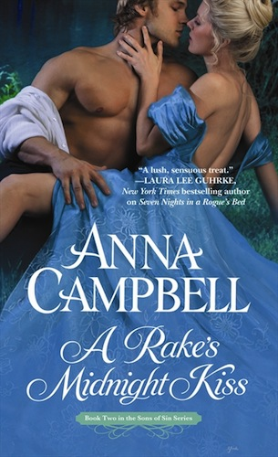 A Rake's Midnight Kiss by Anna Campbell (Sons of Sin, Book 2)