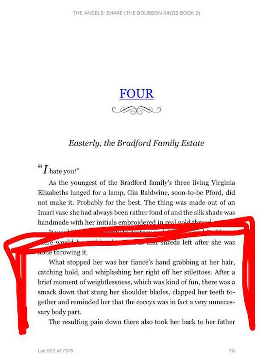 The Angel's Share by J.R. Ward - Screenshot at 7%